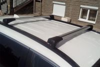 Багажник на крышу Nissan Murano Z52, 2014-..., Lux Bridge, крыловидные дуги (серебристый цвет)