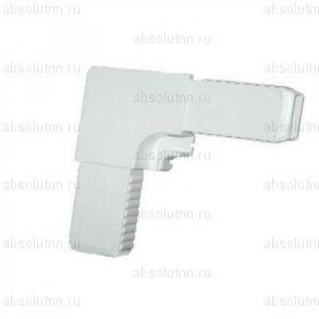 Белый ПВХ соединительный уголок для москитной сетки.