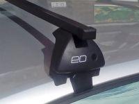 Багажник на крышу Hyundai Elantra 6 (AD) 2015-..., Евродеталь, стальные прямоугольные дуги