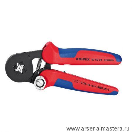 Пресс-клещи для контактных гильз, самонастраивающиеся с боковой установкой (ОБЖИМНИК ручной) KNIPEX 97 53 04