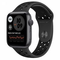 Apple Watch Series 6 44mm Space Gray Aluminum Case with Nike Black Sport Band