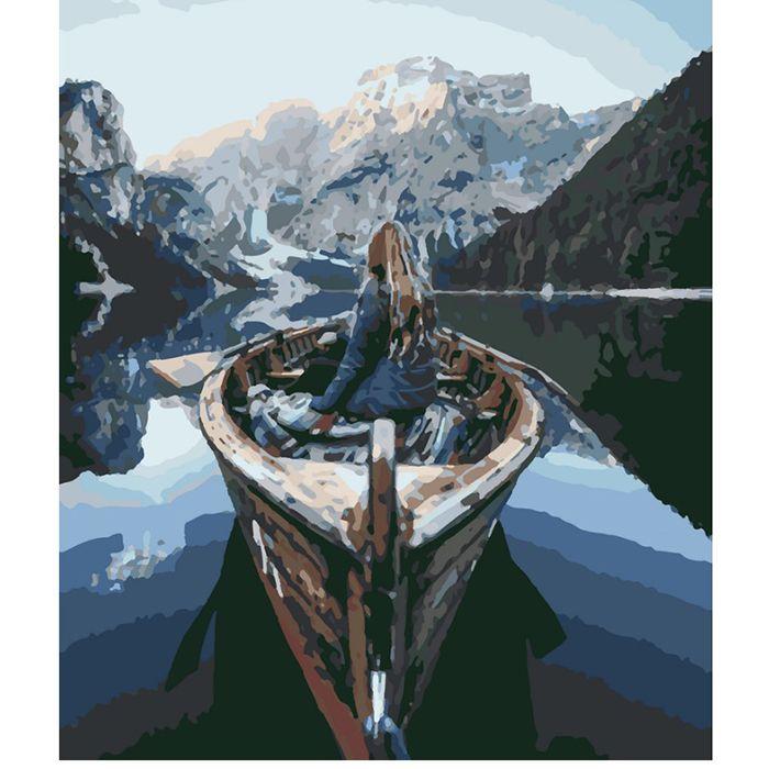 Картина по номерам Горное озеро 40*50 см AK80071