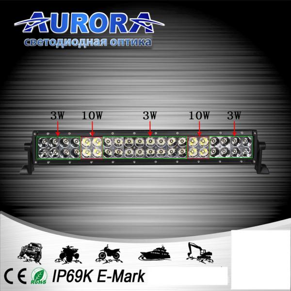 Гибридная двухрядная светодиодная балка дальнего света 176W ALO-20-P4BT
