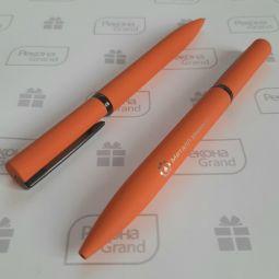 ручки с софт тач покрытием с логотипом