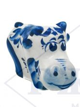 Корова Милаша 6х7х3см. Гжель. Символ 2021 года Гжель