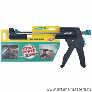 Пистолет MG 600 PRO для герметика механический сила давления до 250 кг Wolfcraft  4356000