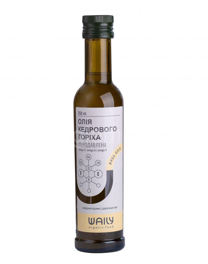Сыродавленое кедровое масло Waily Organic Food,250 мл