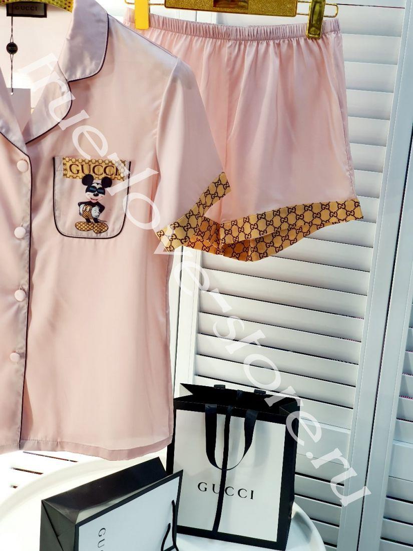 720004-Пижама Gucci (3шт) ( Микки в очках)(M,L,XL)