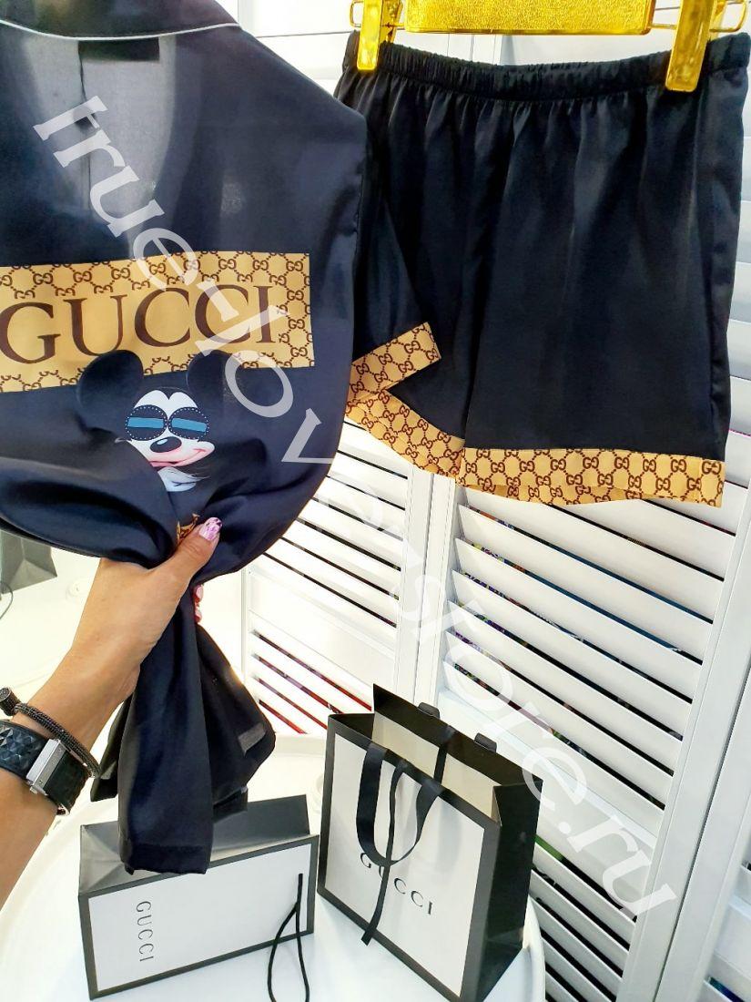 720004-1-Пижама Gucci (3шт) ( Микки в очках)(M,L,XL)