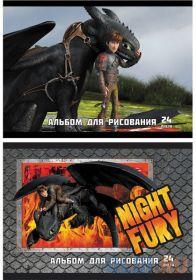 Альбом для рисования Action! Dragons A4 24 листа DR-AA-24