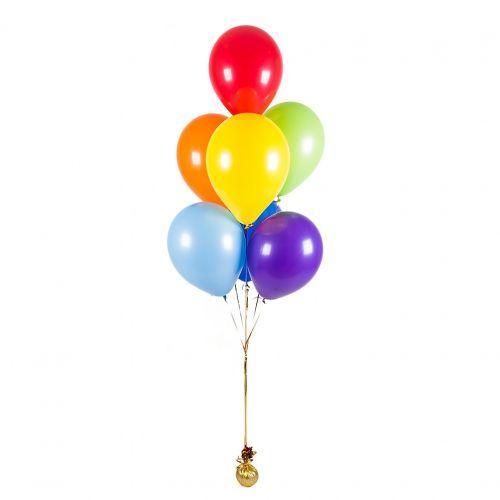 7 гелиевых шаров микс