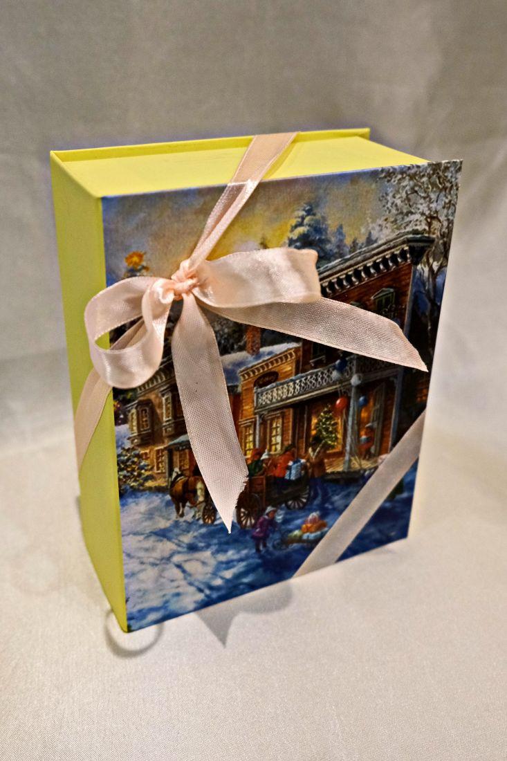Книжка Новогодняя - Чайная книга  - подарочный набор с чаем