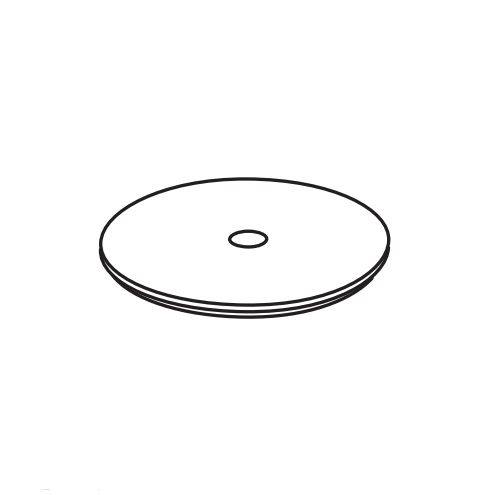 Крашенная крышка для пуфа Cielo Sella ELCTL 36х36