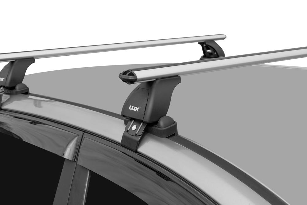 Багажник на крышу Hyundai Santa Fe 2012-..., Lux, аэродинамические дуги (53 мм)
