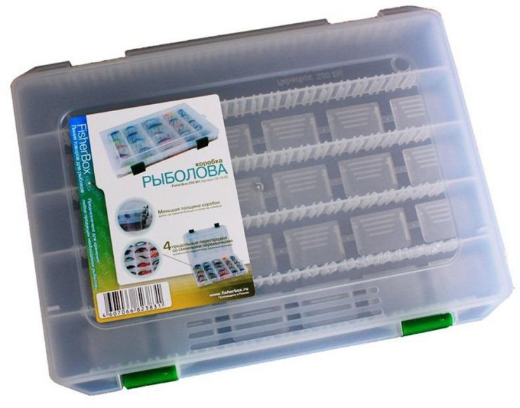 Коробка ФФК-250slim рыбака пластиковая 250х160х30
