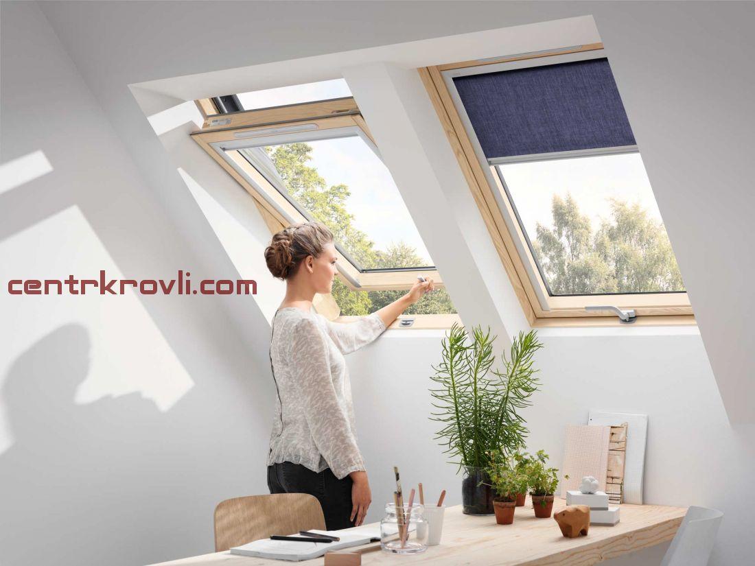 Мансардное окно Velux Дизайн GLL1061B (ручка снизу)
