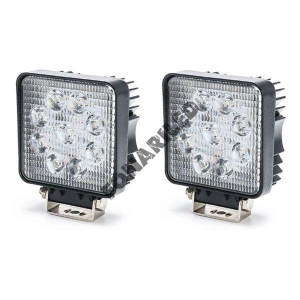 Комплект светодиодных фар K-FRK9-27W FLOOD ближний, рабочий свет