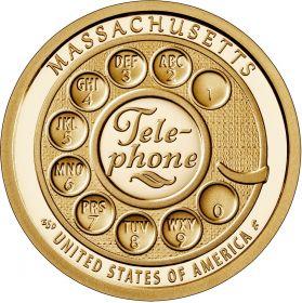 Изобретение телефона Массачусетс 1 доллар США  2020 Инновации Монетный двор на выбор