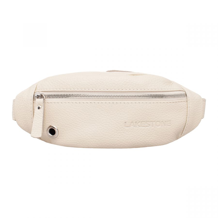 Женская кожаная поясная сумка Lakestone Bisley Light Beige