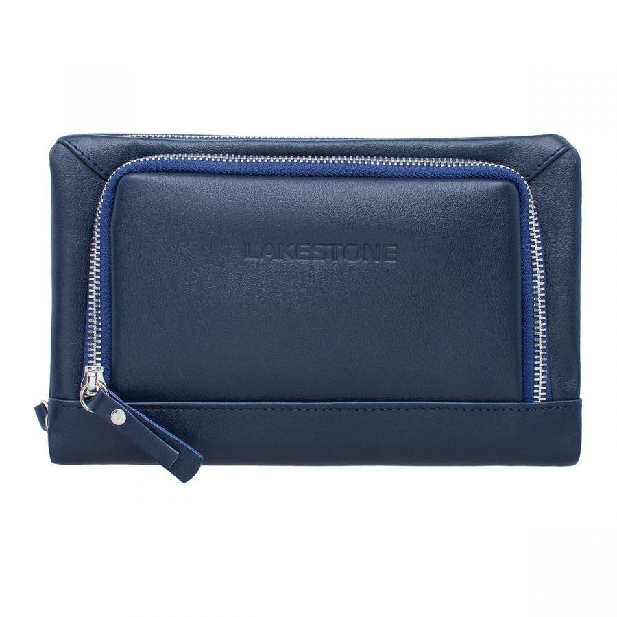 Мужской кожаный клатч Lakestone Barrington Dark Blue