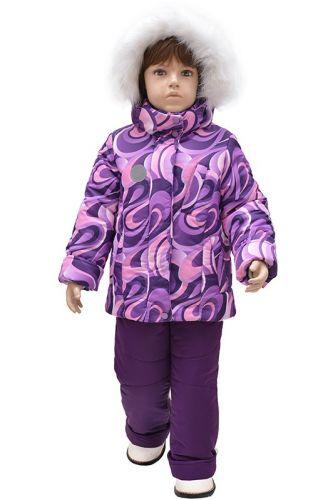 Комплект для девочки куртка и полукомбинезон Зима, 5-9 лет Rusland RLА0318