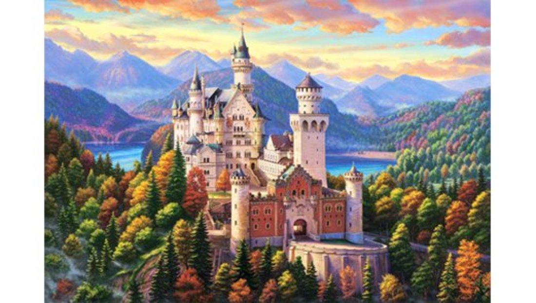Роспись по холсту Замок Нойшванштайн, 30х40 см