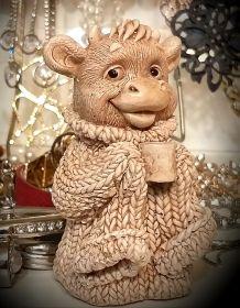 Форма силиконовая Бык в вязаном свитере