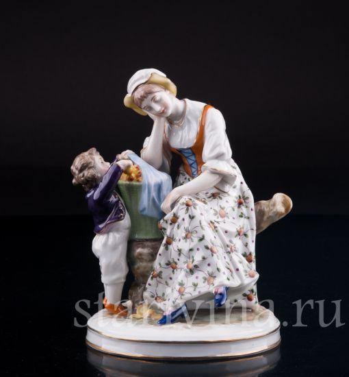 """Изображение """"Еще одно..."""", Женщина с мальчиком, Volkstedt, Германия, нач. 20 в."""