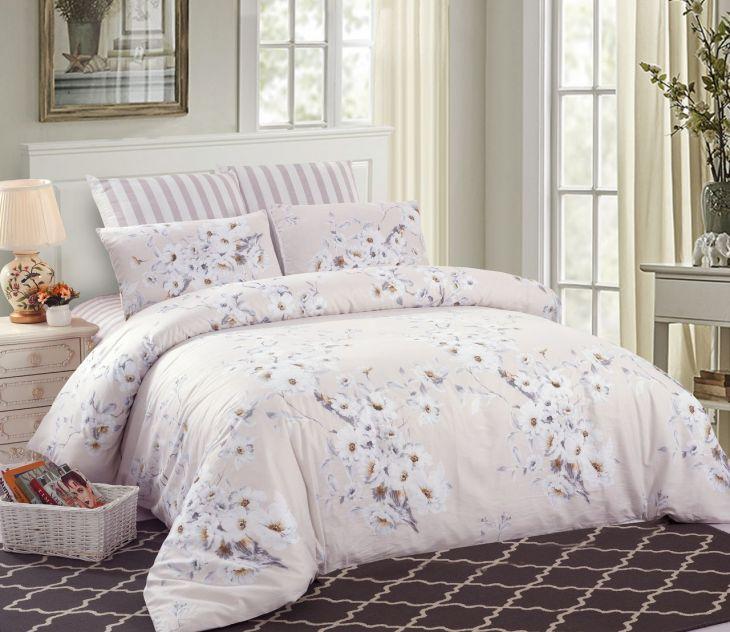Комплект постельного белья Сатин 100% хлопок C253 евро-макси