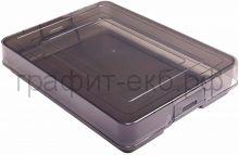 Бокс А4 для документов серый/тонированный пластик СТАММ КТ11