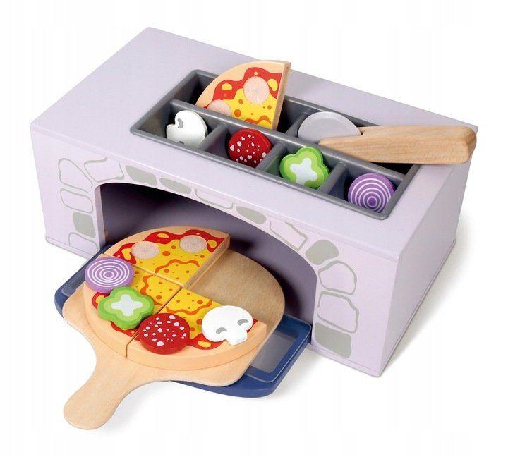 Деревянная печь для пиццы + кухонные принадлежности Ecotoys 4333