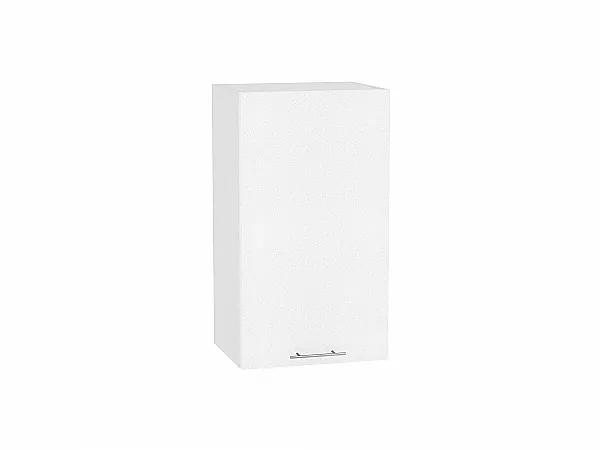 Шкаф верхний Валерия В400 (белый металлик)