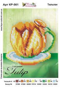 Фея Вышивки КР-561 Тюльпан схема для вышивки бисером купить оптом в магазине Золотая Игла