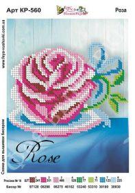 Фея Вышивки КР-560 Роза схема для вышивки бисером купить оптом в магазине Золотая Игла