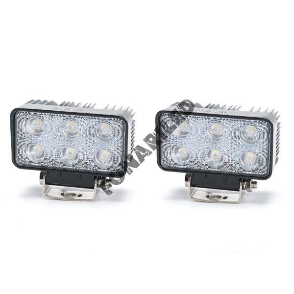 Комплект светодиодных фар K-FR6-18W FLOOD ближний, рабочий свет