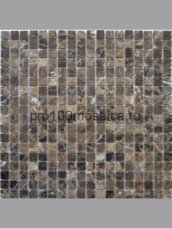 KG-01P 15*15 камень. Мозаика Emperador Dark серия STONE, 305*305*4 мм (КерамоГраД)