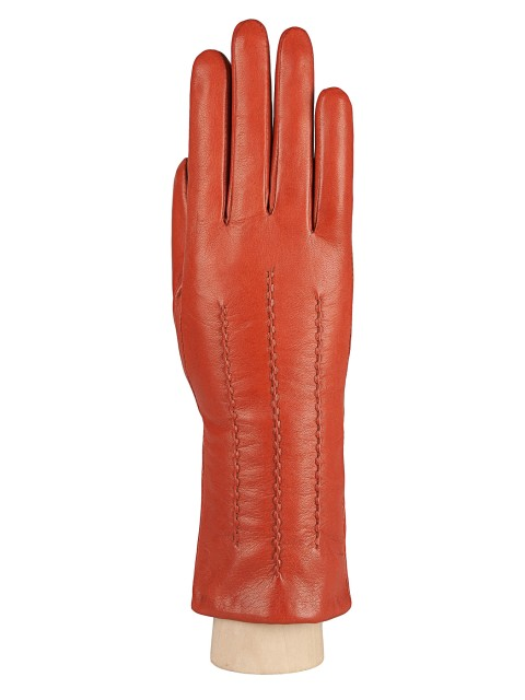 Кожаные перчатки с декоративными швами ELEGANZZA