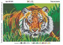 АП-391 Фея Вышивки. Тигр на Охоте. А4 (набор 900 рублей)