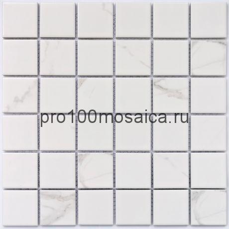 Calacatta-48 Мозаика из керамогранита, чип 48*48, размер, мм: 306*306*6