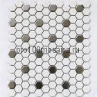 Babylon Silver matt Мозаика СОТЫ, серия PORCELAIN, размер, мм: 260*300*6