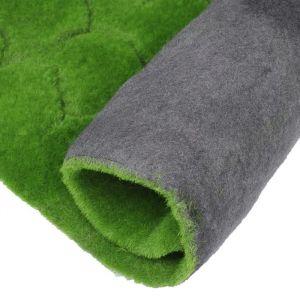 Мох искусственный, декоративный, полотно 1 ? 1 м, рельефный, бугры, зелёный