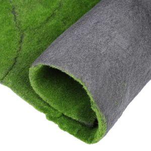 Мох искусственный, декоративный, полотно 1 ? 1 м, рельефный, горный, зелёный