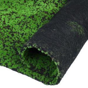 Мох искусственный, декоративный, полотно 1 ? 1 м, рельефный, зелёный на чёрном