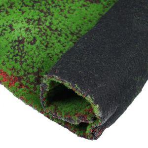 Мох искусственный, декоративный, полотно 1 ? 1 м, рельефный, зелёный с щепой