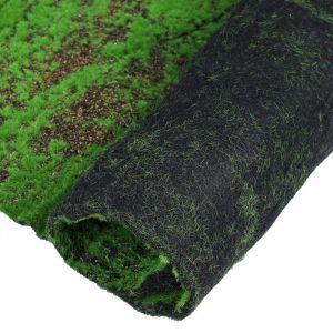 Мох искусственный, декоративный, полотно 1 ? 1 м, рельефный, с щепой, зелёный