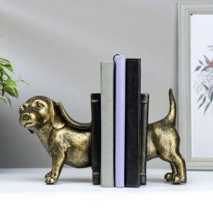 "Держатели для книг ""Бронзовая собака"" набор 2 шт 15,5х21х11 см   5078132"