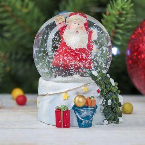 "Сувенир полистоун водяной шар ""Привет, Дед Мороз"" 6,5х5х5 см   3244412"