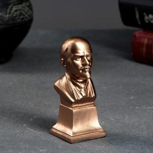 Бюст Ленин 10х4см, бронза / мраморная крошка 5292620