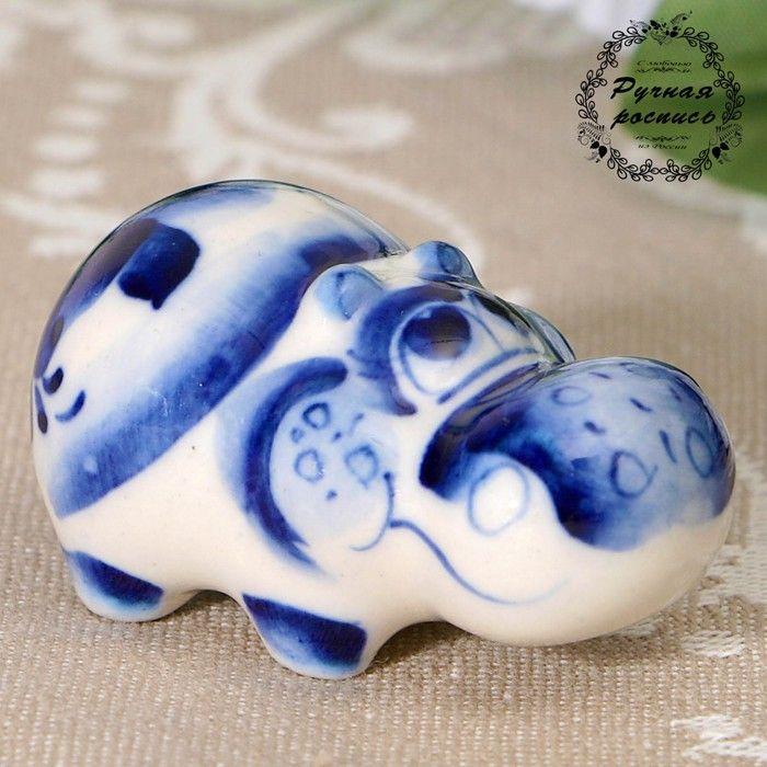 "Сувенир керамика ""Бегемот маленький"" 2,5х4,5 см 2330613"