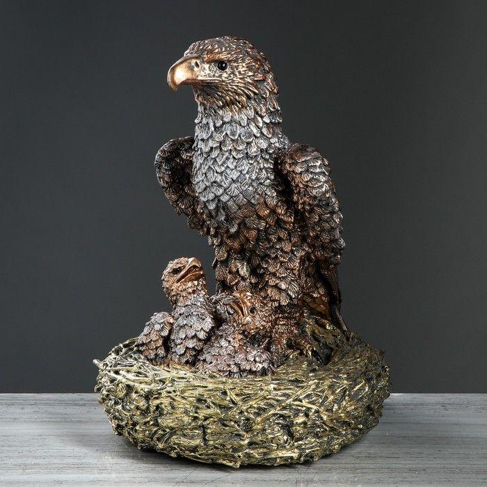 """Статуэтка """"Орёл с орлятами в гнезде"""" бронза 44 см   4364022"""